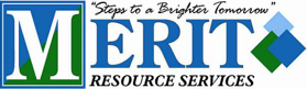 merit resource services logo